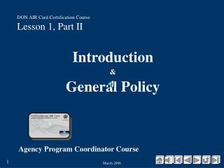 DON AIR Card Certification Course Lesson 1, Part II