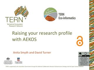 Raising your research profile with AEKOS