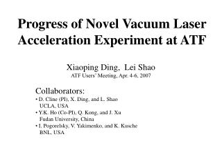Progress of Novel Vacuum Laser Acceleration Experiment at ATF