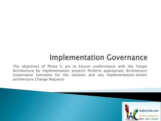 Implementation Governance