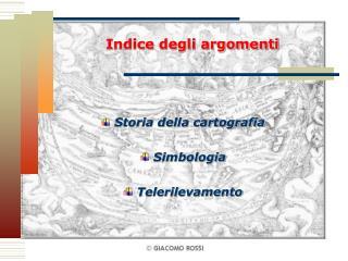 Indice degli argomenti