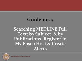 Guide no. 5