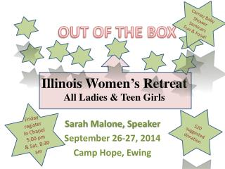 Illinois Women's Retreat All Ladies & Teen Girls