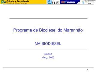 Programa de Biodiesel do Maranhão