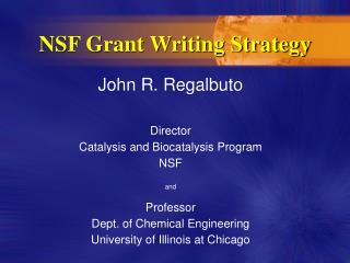 NSF Grant Writing Strategy