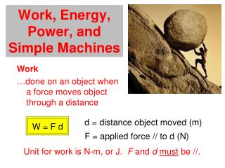 Work, Energy, Power, and Simple Machines