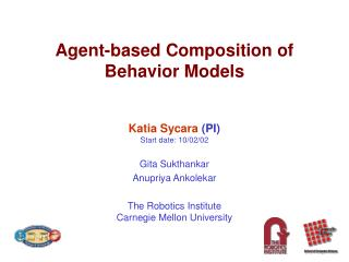 Agent-based Composition of Behavior Models