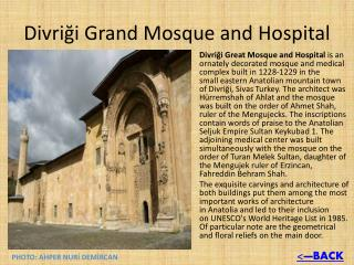 Divriği Grand  Mosque and Hospital