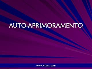 AUTO-APRIMORAMENTO
