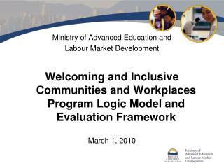 Ministry of Advanced Education and  Labour Market Development