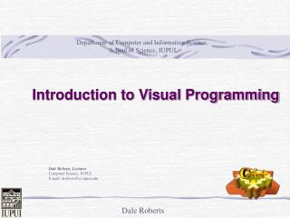 Introduction to Visual Programming