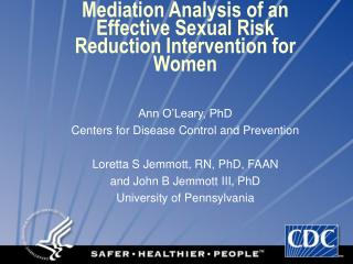 Mediation Analysis of an Effective Sexual Risk Reduction Intervention for Women