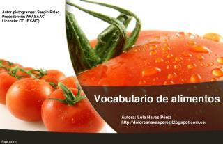 Vocabulario de alimentos