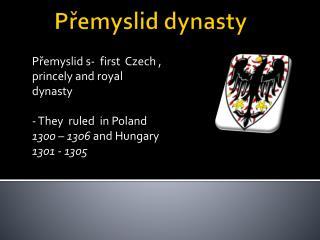 Přemyslid dynasty