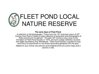 FLEET POND LOCAL NATURE RESERVE