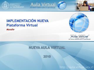 IMPLEMENTACIÓN NUEVA  Plataforma Virtual Moodle