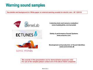 Warning sound samples