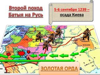 Второй поход Батыя на Русь