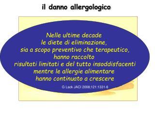 il danno allergologico