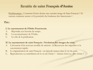Retable de saint François d'Assise