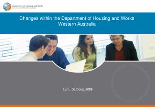 Changes within the Department of Housing and Works Western Australia