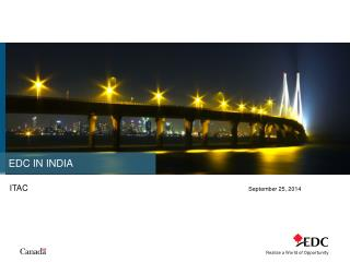 EDC IN INDIA