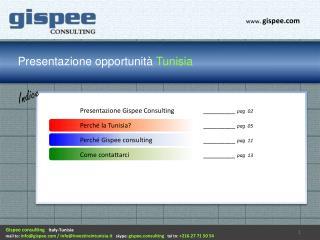 Presentazione opportunità  Tunisia