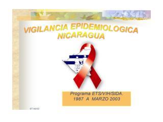 SEROPOSITIVOS/CASOS/FALLECIDOS POR VIH/SIDA NICARAGUA, 1987 - Mar. 2003