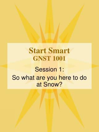 Start Smart GNST 1001