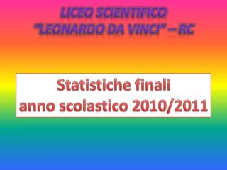 "Liceo Scientifico "" leonardo  da Vinci"" – RC"