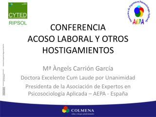 CONFERENCIA ACOSO LABORAL Y OTROS HOSTIGAMIENTOS