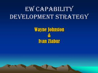 EW Capability Development Strategy