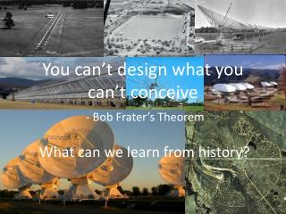 You can't design what you can't conceive - Bob Frater's Theorem