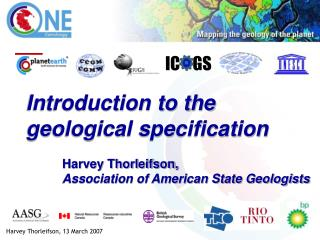 Introduction to the geological specification