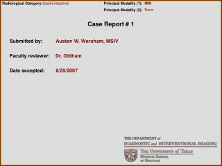 Case Report # 1