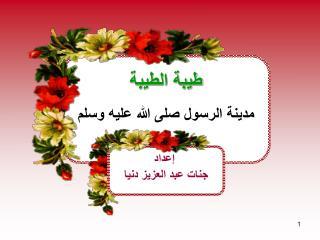 طيبة الطيبة مدينة الرسول صلى الله عليه وسلم