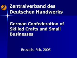 German Confederation of Skilled Crafts and Small Businesses