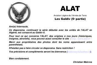 ALAT Aviation Légère de l'Armée de Terre Les Galdiv (5 e partie)