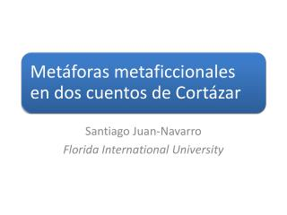 Santiago Juan-Navarro Florida International University