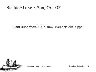 Boulder Lake – Sun, Oct 07  Continued from 2007-1007-BoulderLake-a
