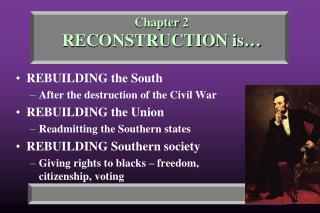 Chapter 2 RECONSTRUCTION is…