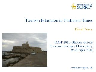 Tourism Education in Turbulent Times
