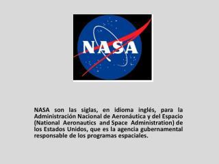PROGRAMAS DE LA NASA