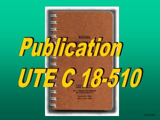 Publication  UTE C 18-510