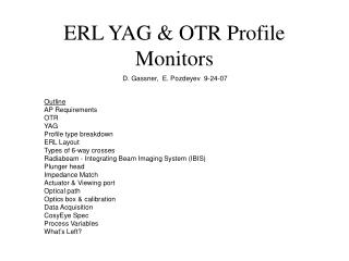 ERL YAG & OTR Profile Monitors