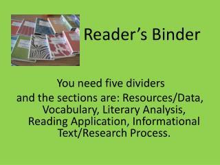 Reader's Binder