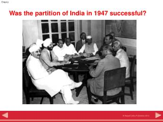 Was the partition of India in 1947 successful?