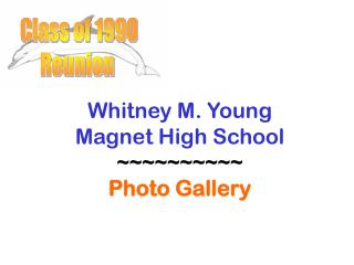 Whitney M. Young Magnet High School ~~~~~~~~~~ Photo Gallery
