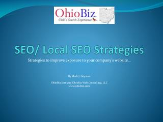 SEO/ Local SEO Strategies