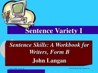 Sentence Variety I